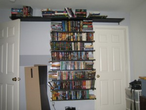Brand new shelves!  Look at all that empty space!  Oh.... wait...